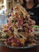 Leaning tower of slaw.