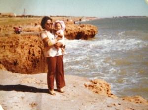 South Hedland beach, circa 1977.